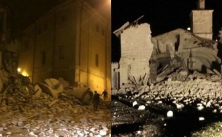 Doua cutremure cu magnitudinea de 5,4 si 5,9 au lovit centrul Italiei in decurs de doua ore. Doua persoane, ranite. VIDEO