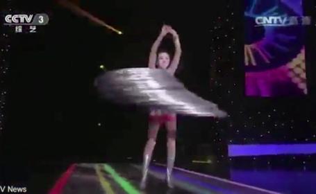 O acrobata chineza a reusit un truc extraordinar. Ce a putut sa faca cu 305 cercuri simultan, fara sa isi foloseasca mainile
