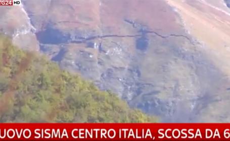 cutremur in Italia, 30 octombrie, munte crapat