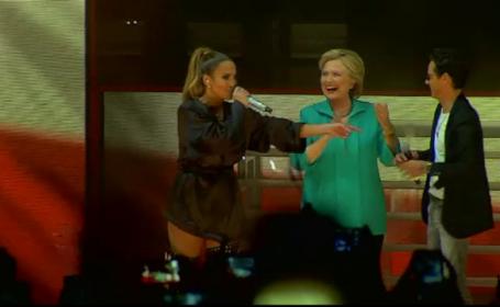 Vedetele din SUA se mobilizeaza pentru a o sprijini pe Hillary Clinton. Jennifer Lopez i-a dedicat un intreg concert