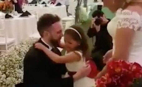 Gestul extraordinar facut de mire pentru fiica lui vitrega, la nunta. Invitatii nu si-au putut stapani lacrimile.VIDEO