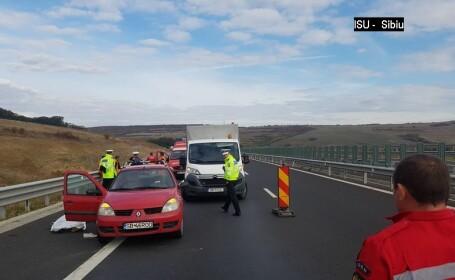Accident pe Autostrada Sibiu-Orăștie