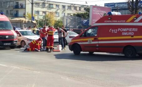 Doi copii au fost răniţi de o maşină pe Bulevardul Iuliu Maniu din Capitală