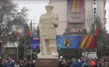 statuia lui Mihai Viteazul de la Slobozia