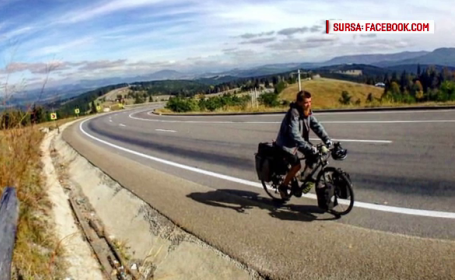 Un tânăr a parcurs 6.500 de km pe bicicletă pentru a ajuta copiii nevoiași