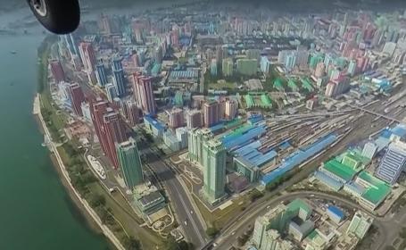 VIDEO. Cum arată Phenianul de la înălțime. Imagini spectaculoase cu capitala Coreei de Nord