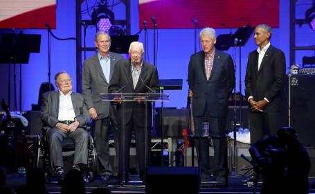 32 de ani de istorie, pe aceeași scenă. Cinci foști președinți americani au participat la un eveniment caritabil