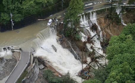 Taifunul Lan a lovit Japonia