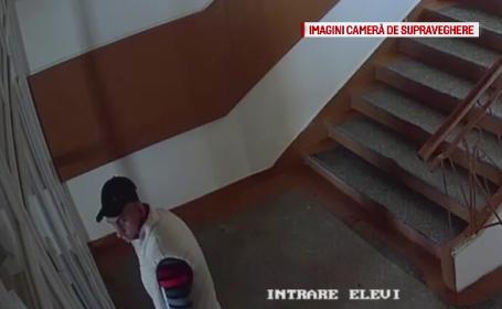 Cine îl recunoaște pe acest individ? Ipostaza în care a fost filmat într-un liceu din Bihor