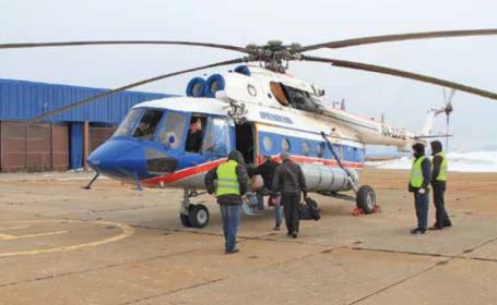 Elicopter prabusit Marea Groenlandei