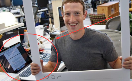 Zuckerberg laptop