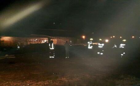 tren care a luat foc