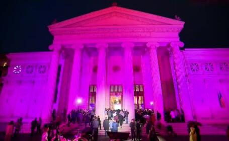 ateneul roman roz