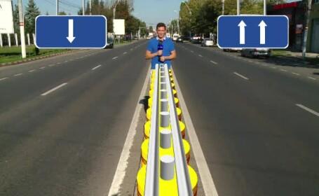 Separatoare cu role pe cele mai periculoase drumuri. Vom fi primii din Europa cu sistemul