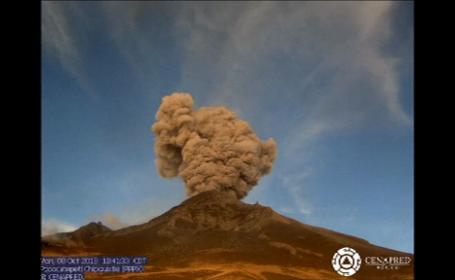 vulcan, Popocatepetl, mexic,