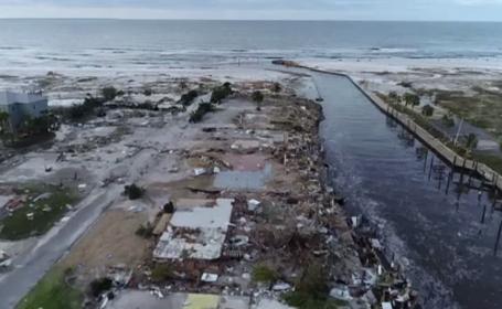 """Imagini surprinse cu drona în urma dezastrului provocat de uraganul Michael. """"E şters de pe faţa pământului"""""""