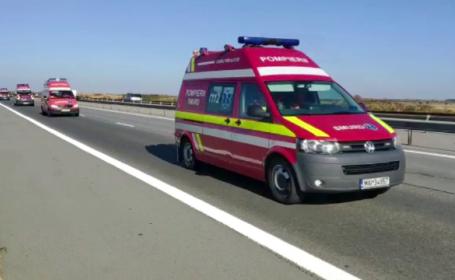 Şoferul TIR-ului încărcat cu polietilenă, răsturnat pe DN2, a murit