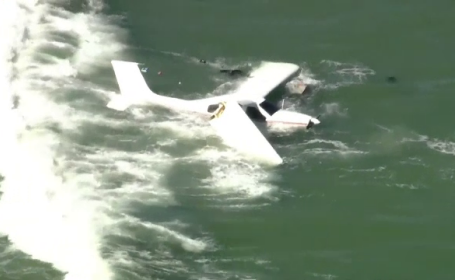 Un avion de mici dimensiuni s-a prăbuşit în Oceanul Atlantic. Pilotul s-a salvat