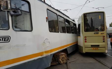 Coliziune tramvaie Bucuresti