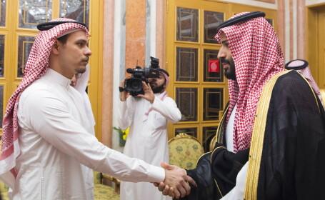 Fiul jurnalistului Jamal Khashoggi, Salah bin Jamal Khashoggi, prinţul moştenitor Mohammed bin Salman