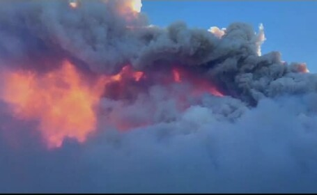 O zonă din Italia arde de 2 zile. Fumul, vizibil de la 40 de kilometri