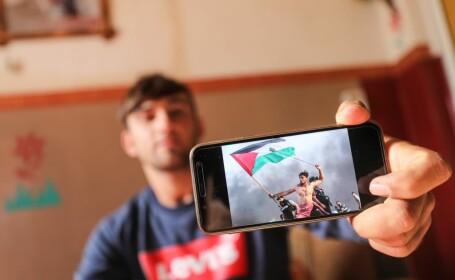 Fotografie virala cu un protestatar palestinian