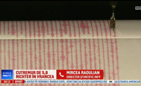 """Mircea Radulian: """"Statistic, și acum poate să vină un cutremur mare, de peste 7"""""""