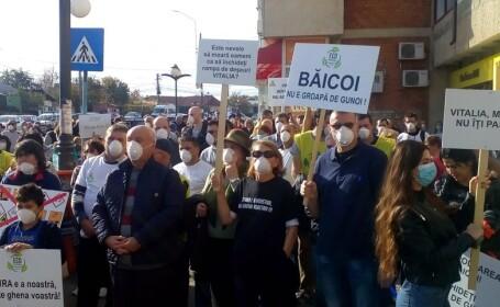 proteste la Baicoi