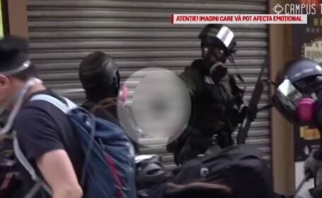 Scene violente la Hong Kong