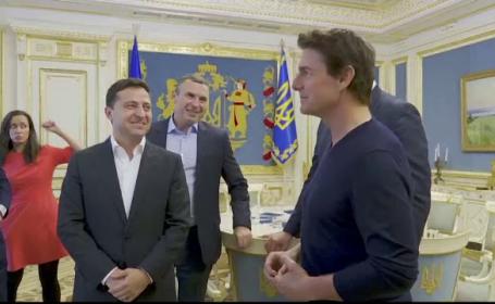 """Întâlnire inedită între Tom Cruise și Zelenski: """"Arăți foarte bine, ca și în filme"""""""