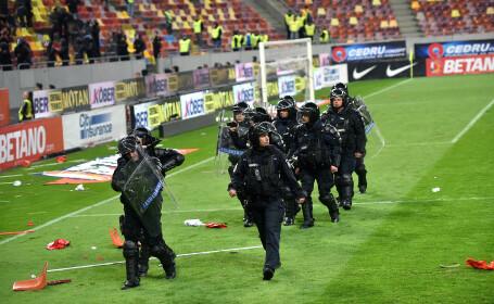 Incidente la finalul meciului FCSB - Dinamo