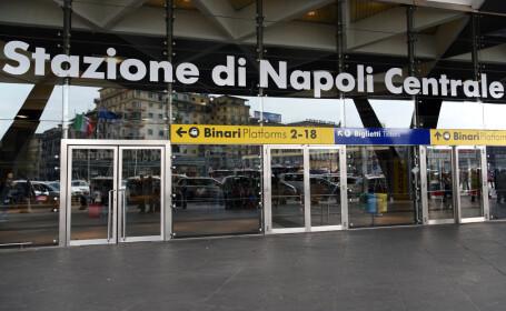 Un român a fost bătut de trecători, în gara din Napoli. Ce îi făcuse unei tinere