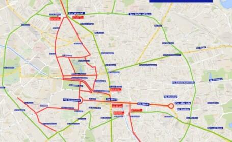 Restricții de circulație duminică în Capitală, pentru Maratonul Internațional București