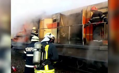 tren incendiu