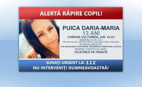 Fata dispărută în Cluj ar fi fost răpită de unchiul ei. \