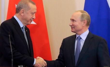 Putin şi Erdogan salută o reducere a tensiunilor în provincia siriană Idlib