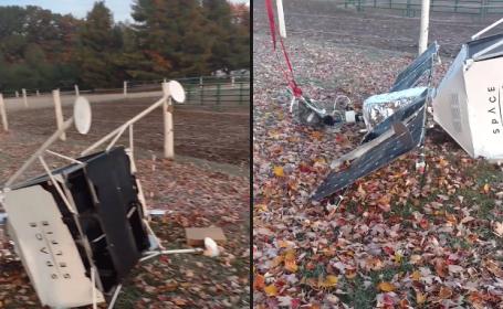Legătura dintre poza unui cunoscut model și un satelit prăbușit în curtea unei familii