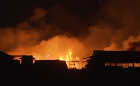 incendiu castel japonia