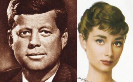 """Legătura dintre John F. Kennedy și actriţa Audrey Hepburn. """"Avea un râs contagios"""""""