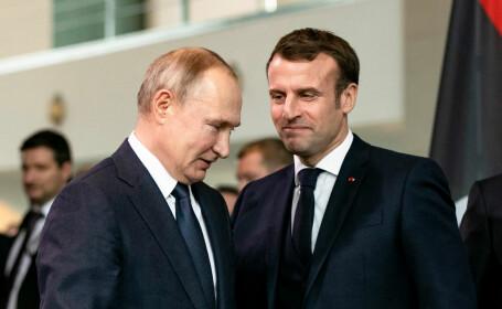 """Ce i-a spus Putin lui Macron despre situația din Belarus: """"Toate încecările sunt inacceptabile"""""""