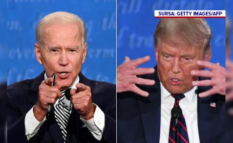 """Reacții în urma dezbaterii dintre Donald Trump și Joe Biden. """"Greu de privit"""""""