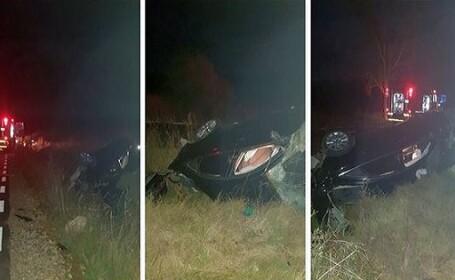 Accident îngrozitor în Caraș-Severin. Victimele au fost aruncate la 50 de metri de mașină