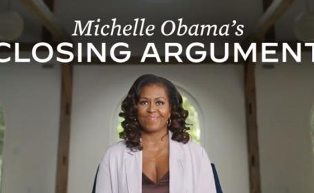 Michelle Obama îi îndeamnă pe americani să-l voteze pe Joe Biden într-un mesaj acid la adresa lui Donald Trump. VIDEO