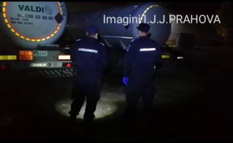 Doi bărbaţi, prinși de jandarmii din Prahova în timp furau GPL direct dintr-o cisternă