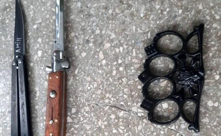 Elev cu un cuțit, ridicat de jandarmi din curtea Liceului Tehnologic Dacia din Pitești. Acum trei zile a fost prinsă o fată