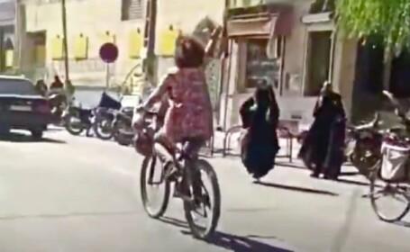 fata bicicletă iran hijab