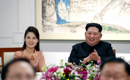 Ri Sol-ju si kim jong-un getty