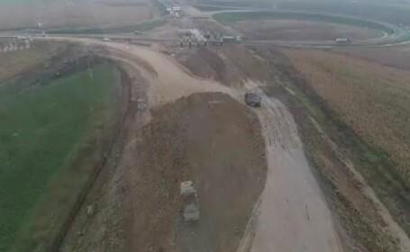 """Secțiune """"lipsă"""" pe Autostrada Transilvania. De ce bat pasul pe loc lucrările acolo"""