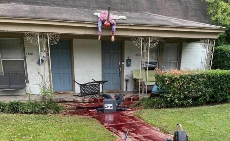 Vecinii au rămas șocați și au sunat în disperare la poliție! Cum și-a decorat un bărbat casa de Halloween