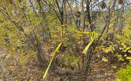 Locul în care a fost escoperit cadavrul carbonizat al femeii
